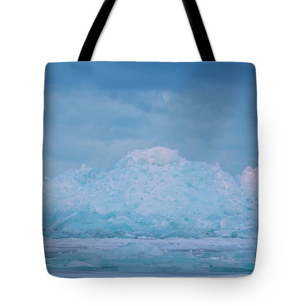 Mackinaw City Ice Formations 2161802 Tote Bag