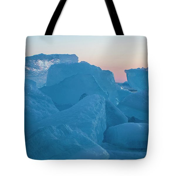 Mackinaw City Ice Formations 2161804 Tote Bag