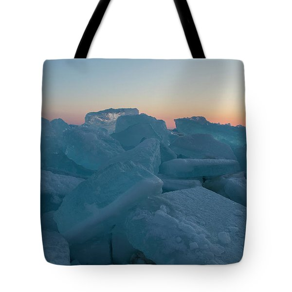 Mackinaw City Ice Formations 2161808 Tote Bag