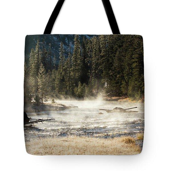 Madison River Morning Tote Bag