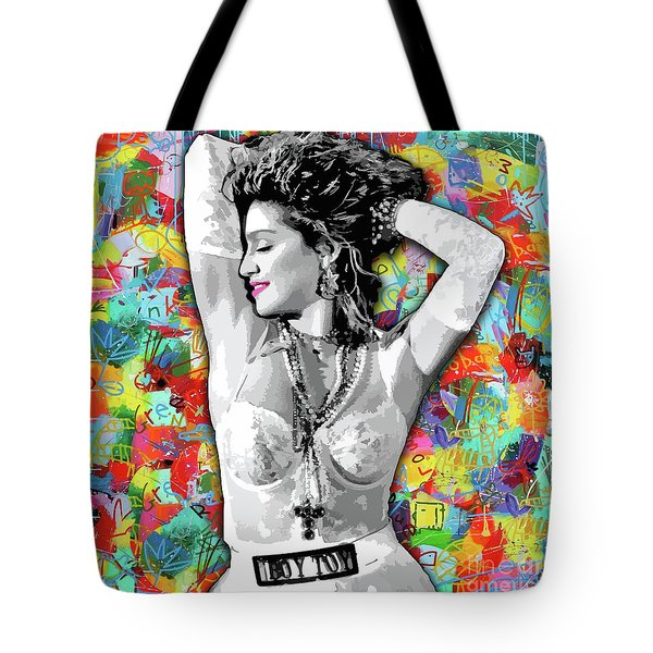 Tote Bag featuring the painting Madonna Boy Toy by Carla B