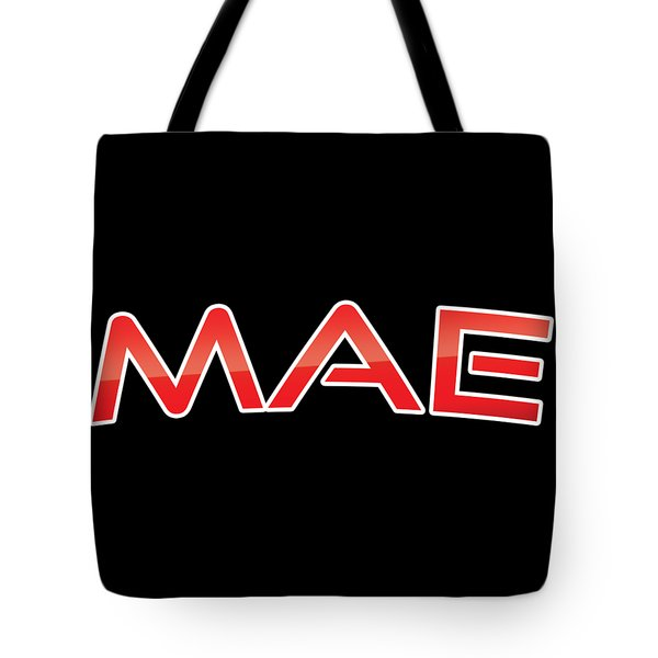 Tote Bag featuring the digital art Mae by TintoDesigns