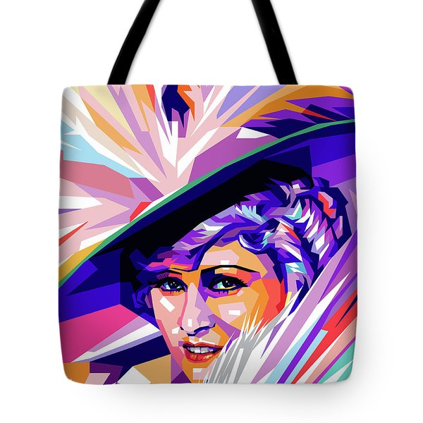 Mae West Pop Art Tote Bag