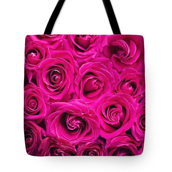 Magenta Roses Tote Bag