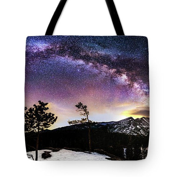 Magic Above Rocky Mountain National Park Tote Bag