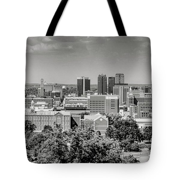 Magic City Skyline Bw Tote Bag