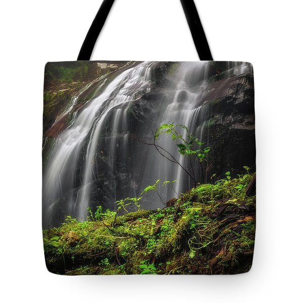 Magical Mystical Mossy Waterfall Tote Bag
