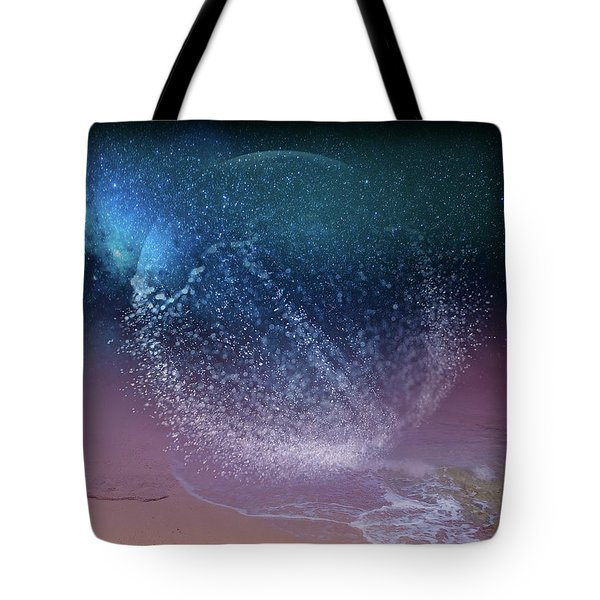 Magical Night Moment By The Seashore In Dreamland 3 Tote Bag