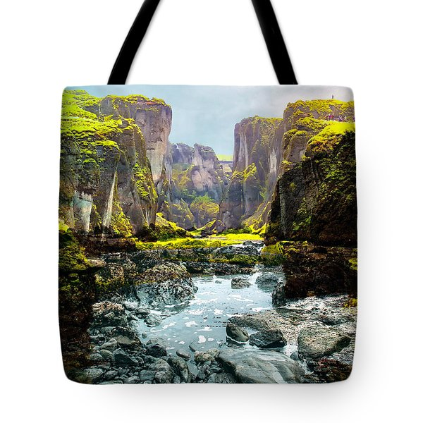 Magnificent Rural Canyons Montage Tote Bag