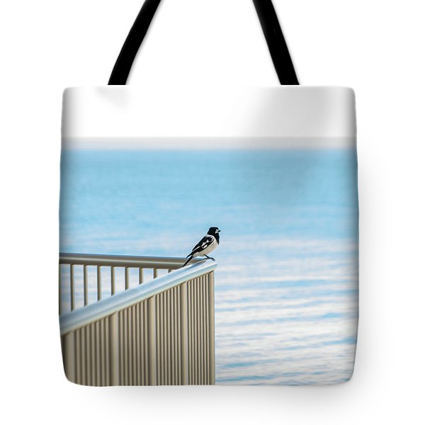 Magpie In Waiting Tote Bag