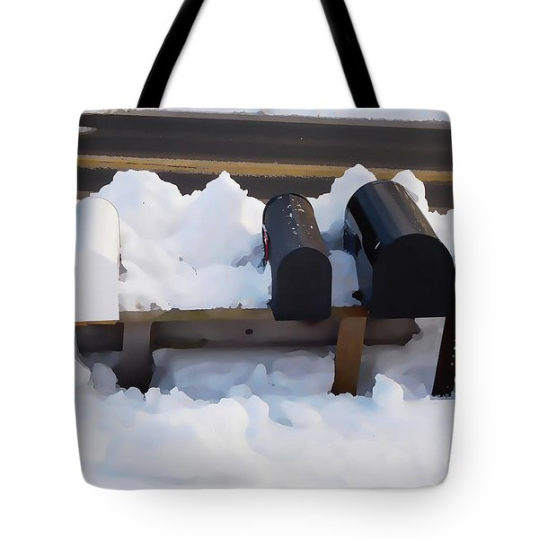 Mailboxes Covered In Snow 1 Tote Bag