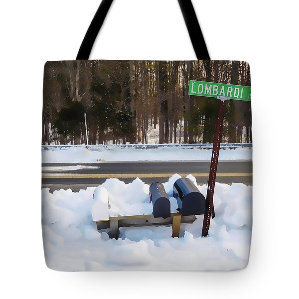 Mailboxes Covered In Snow 2 Tote Bag