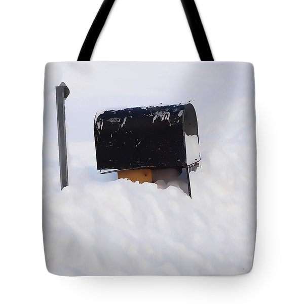 Mailboxes Covered In Snow 3 Tote Bag