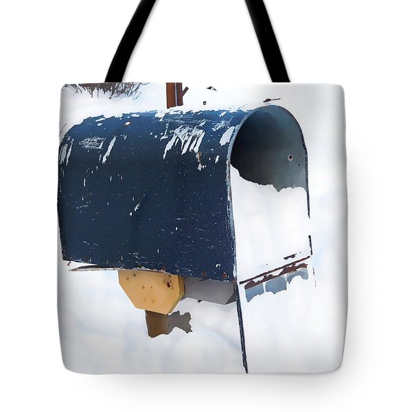 Mailboxes Covered In Snow 5 Tote Bag
