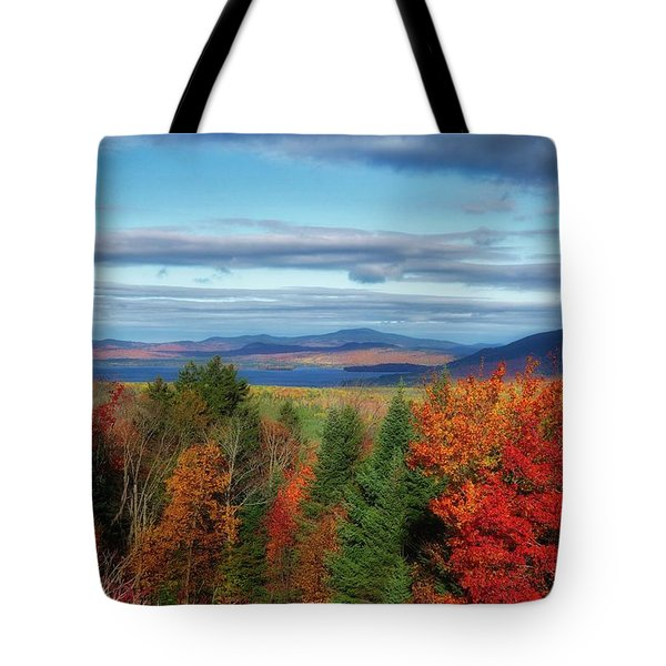 Maine Fall Foliage Tote Bag