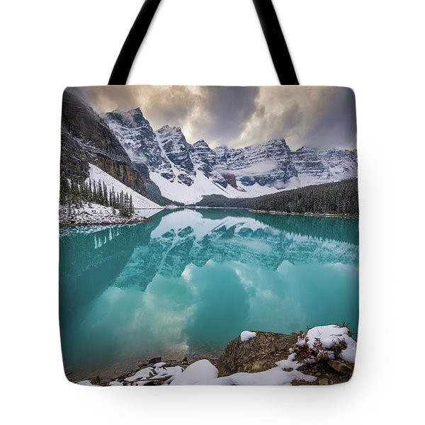 Majestic Moraine Lake Tote Bag