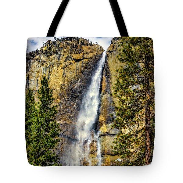 Majestic Upper Yosemite Fall Tote Bag