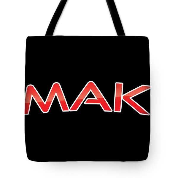 Tote Bag featuring the digital art Mak by TintoDesigns