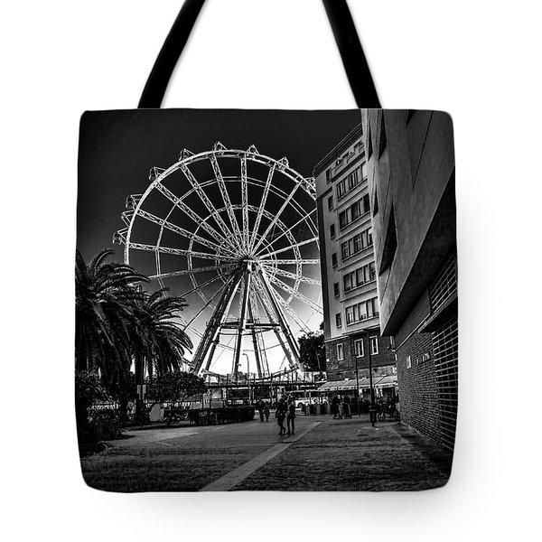 Malaga Ferris Wheel Tote Bag