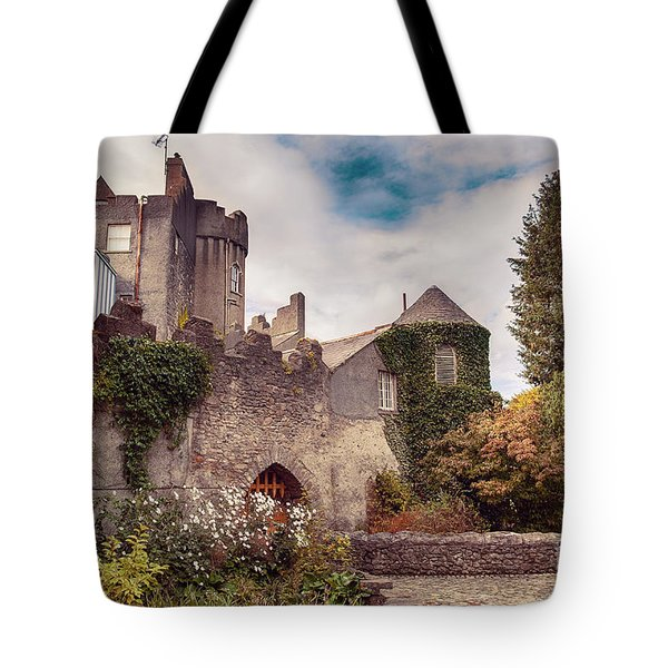 Tote Bag featuring the photograph Malahide Castle By Autumn  by Ariadna De Raadt