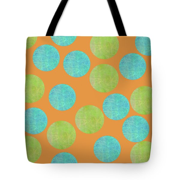 Malaysian Batik Polka Dot Print Tote Bag
