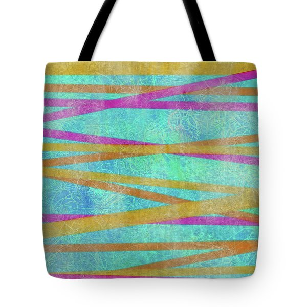 Malaysian Tropical Batik Strip Print Tote Bag