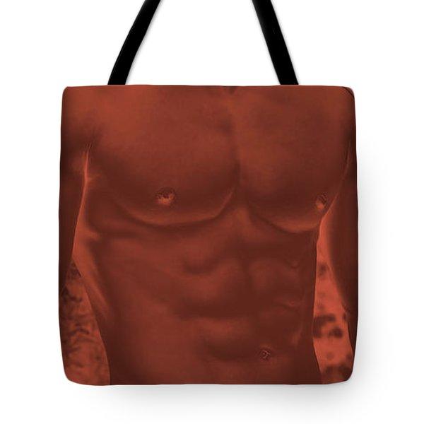 Male Torso Tote Bag