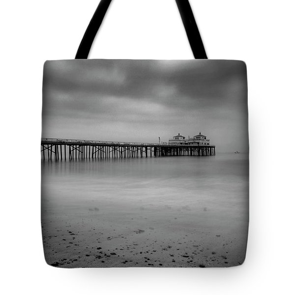 Tote Bag featuring the photograph Malibu Pier by John Rodrigues