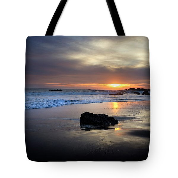 Tote Bag featuring the photograph Malibu Sunset by John Rodrigues