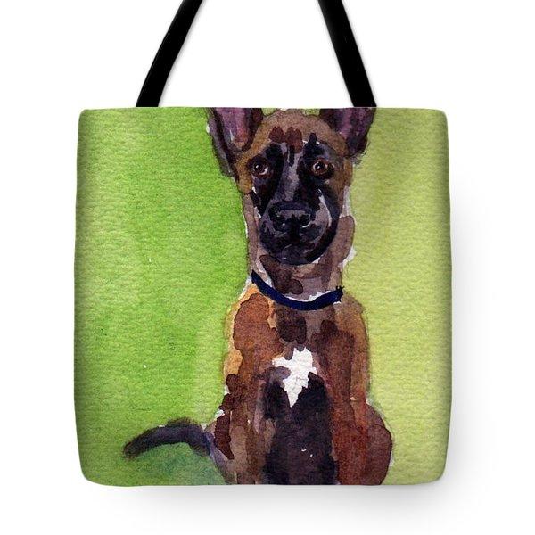 Malinois Pup 2 Tote Bag