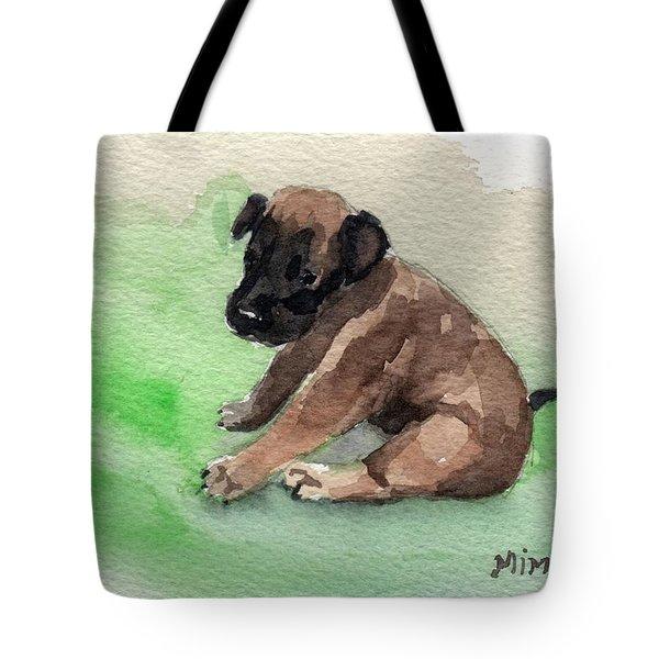 Malinois Pup 3 Tote Bag