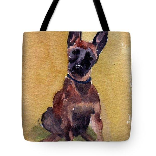 Malinois Pup Tote Bag