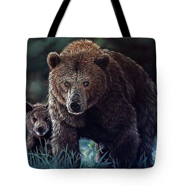 Mama Brown With Cubs Tote Bag