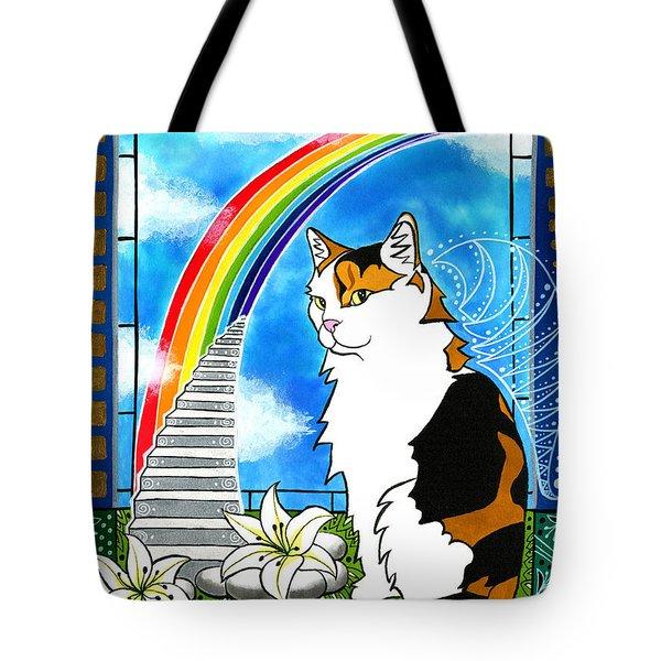 Mama Turtle - Cat Painting Tote Bag