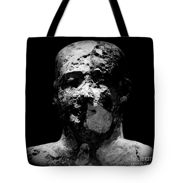 Tote Bag featuring the photograph Man In Decay by Sue Harper