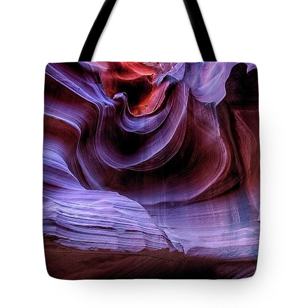 Tote Bag featuring the photograph Man In The Canyon Wall by T A Davies