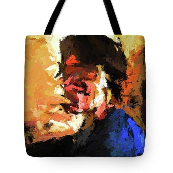 Man In The Cobalt Blue Shirt Tote Bag