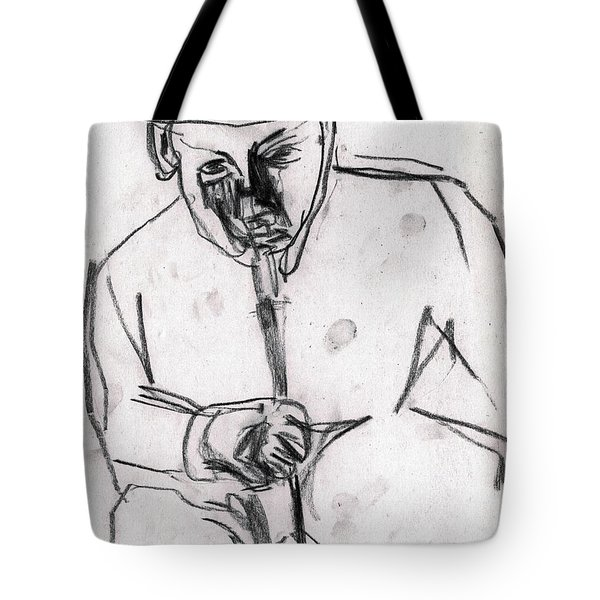 Man In Top Hat And Cane Tote Bag