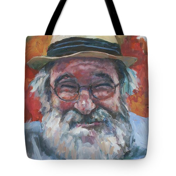 Man With Yellow Hat Tote Bag