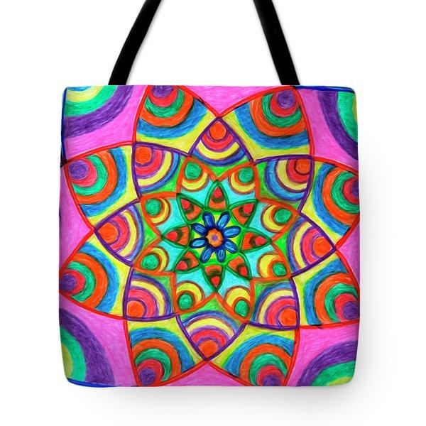 Tote Bag featuring the drawing Mandala 3 by Dobrotsvet Art