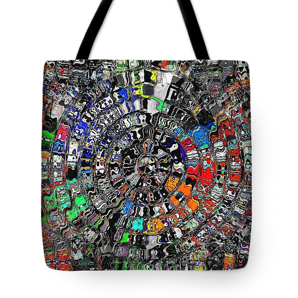 Tote Bag featuring the digital art Mandala Grafundi by David Manlove