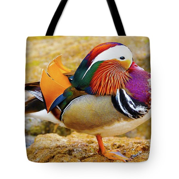 Tote Bag featuring the photograph Mandarin Duck - Iceland by Marla Craven