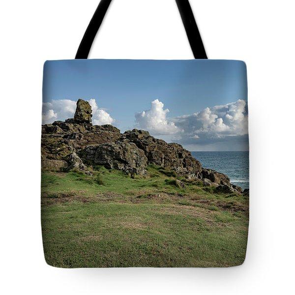 Man's Head - St Ives Cornwall Tote Bag