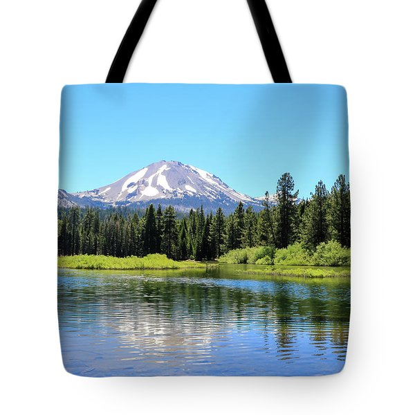 Manzanita Lake Reflection 1 Tote Bag