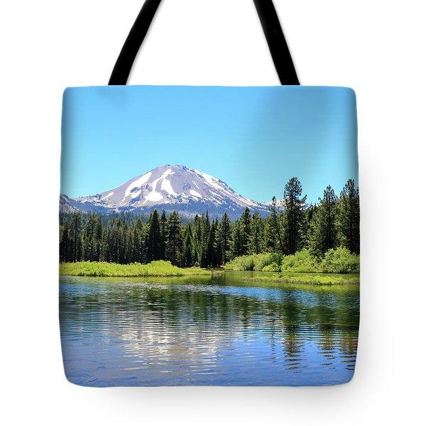 Tote Bag featuring the photograph Manzanita Lake Reflection 1 by Dawn Richards