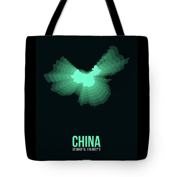 Map Of China 3 Tote Bag