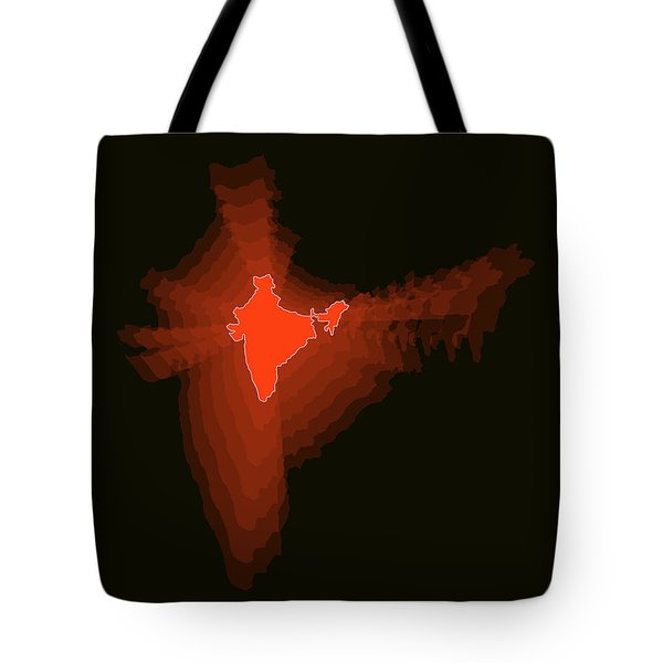 Map Of India Tote Bag