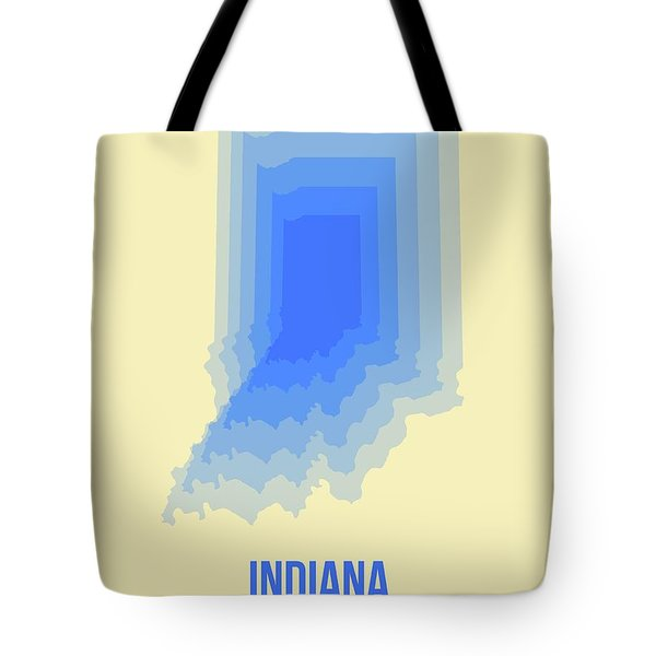 Map Of Indiana Tote Bag