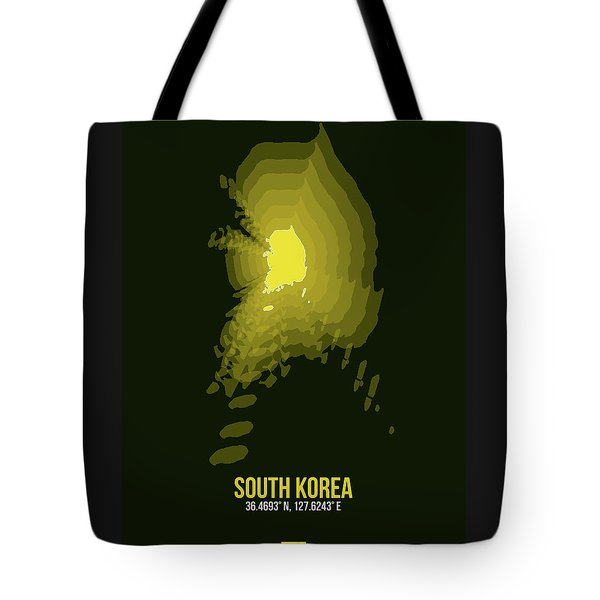 Map Of South Korea 2 Tote Bag