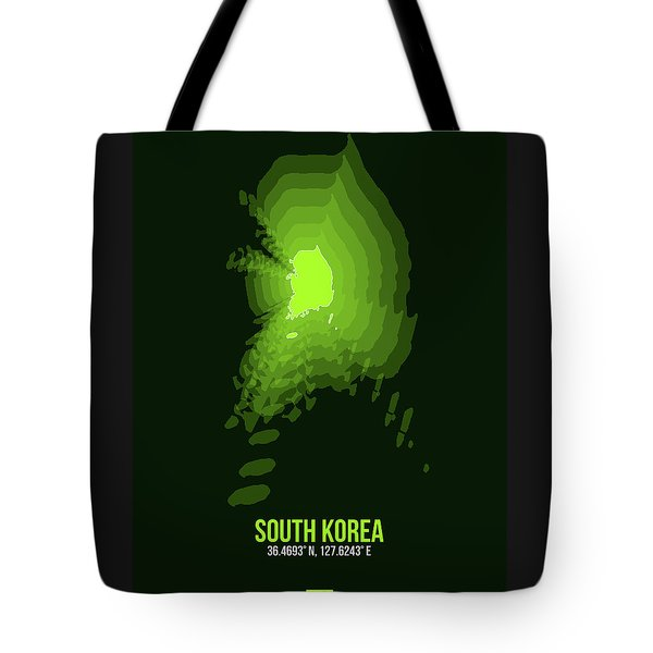 Map Of South Korea 3 Tote Bag
